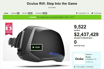 Oculus: Fund My Kickstarter Project–But Don't Get Angry If I Sell to Facebook