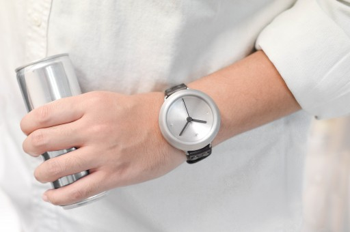 Upcycled Watch Uses Leather Remnants and Recycled Soda Cans For a Sustainable Timepiece